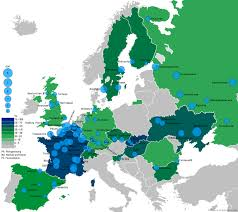 europe map by country nuclear power by country
