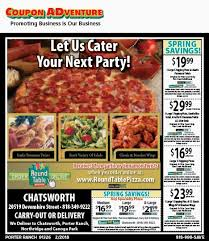 free round table pizza porter ranch 91326 february 2018 coupons coupon adventures