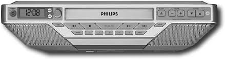 Under Cabinet Kitchen Radios Philips Under Cabinet Alarm Clock Radio With Cd Player Aj6111 37