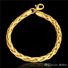 gold bracelet styles images 2018 new gold bracelet designs gold plating 20cm size round chain jpg