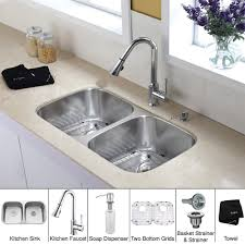 Faucets For Kitchen Sinks by Stainless Steel Kitchen Sink Combination Kraususa Com