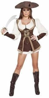 Female Pirate Halloween Costumes Sky Pirate Inspired Halloween Costume Brown White Medium