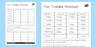 train timetable worksheet australia train timetable