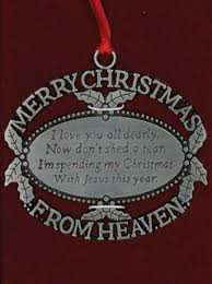 merry from heaven ornament pewter baue funeral homes