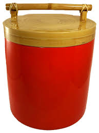 bamboo canister with bamboo handle 256 oz large asian
