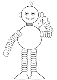 robot speaks phone coloring free printable coloring