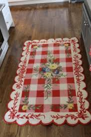 Red Kitchen Rugs Http The2seasons Com Floral And Gingham Rug Sweet Gingham