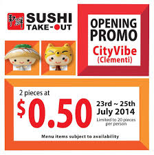 sushi express cityvibe clementi opening promotion bq sg