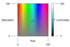 color dialog box windows
