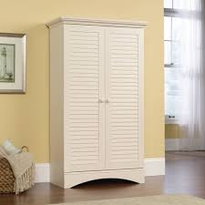 Bathroom Storage Cabinets With Doors Furniture Rectangle White Wooden Storage Cabinet With