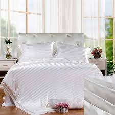 White Silk Bedding Sets 19mm Mulberry Silk Seamless Silk Charmeuse Duvet Cover Set