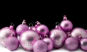 photo of pink festive baubles free christmas images