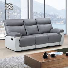 stirling slate grey leather recliner collection with pebble grey trim