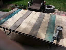 Patio Furniture Pallets by Patio Table Top Redo With Pallet Wood Kindred