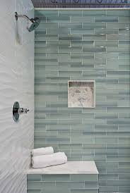 Bathroom Floor And Shower Tile Ideas by Best 25 Glass Tile Bathroom Ideas Only On Pinterest Blue Glass