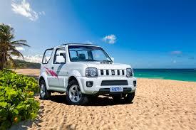 suzuki jimny hire a suzuki jimny jeep compact suv hard top cfar in barbados
