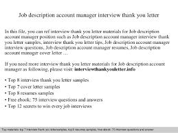 job description account manager