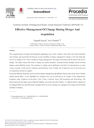 effective management of change during merger and acquisition