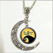 amazon com charm crescent moon nightmare before christmas pendant