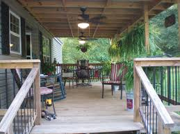 Cozy Front Porch Chairs On Cozy Trailer Mobile Home Front Porch With Colorful Of Chairs
