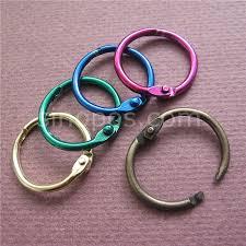 metal binder rings images Colored metal split rings 20mm ring binder hinged split design jpg