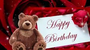 happy birthday song with teddy bear youtube