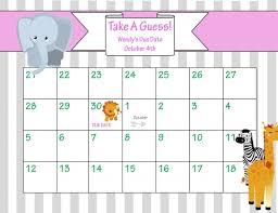 july 2016 calendar printable baby due guessing calendar template