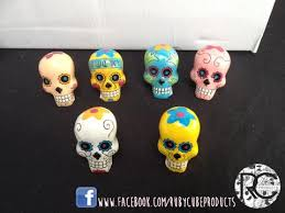 Skull Decor Resin Sugar Skull Decor Figurines 4cm U2013 Rubycube Products