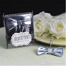 black tie party favors silver chrome black tie bow tie corkscrew wine opener wedding