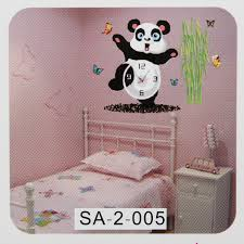 diy cute wall clock sticker paper decal home kids bedroom time diy cute wall clock sticker paper decal home