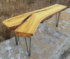 Natural Wood Furniture by Custom Made Osage Orange Live Edge Coffee Table Modern Rustic