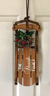 family name christmas sled wood sled christmas decoration