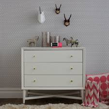 mid century changing table dwellstudio mid century 3 drawer french white dresser reviews