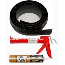 tsunami seal 10 ft black garage door threshold kit 53010 the