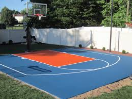 Half Court Basketball Dimensions For A Backyard by How Much Does It Cost To Make A Backyard Basketball Court Home