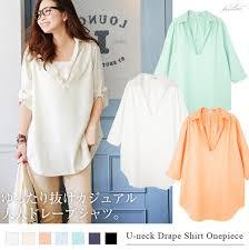 Drape Tunic Dress Naturalbodymaking Rakuten Global Market Shirt Skipper T Shirt