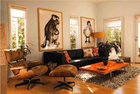 home interior prints living room prints yellow white sripe cushion ottoman coffee table