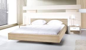 chambre 160x200 lit 160x200 blanc et chêne design chambre adulte miya