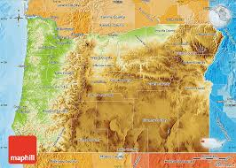 political map of oregon physical map of oregon political shades outside