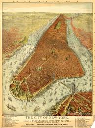 Map Of New York Manhattan And Long Island by Print Collection Rogers Peet U0026 Co Aerial Map Of Manhattan In 1879
