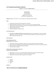 Example Resume For A Job by Engineering Student Resume Berathen Com