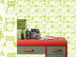 contemporary interior wallpaper design for kids room by loboloup