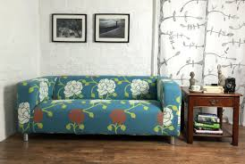 Solsta Sofa Bed Cover by Klippan 2 Seat Sofa Cover In Duck Egg Floral Pattern Cotton Canvas