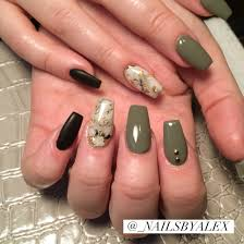 nailsbyalexgp accent nails pinterest coffin nails green