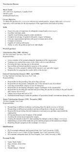 veterinary nurse cv sample myperfectcv resume samples types of