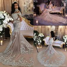 luxury mermaid wedding dresses luxury sparkly 2017 mermaid wedding dress sheer bling