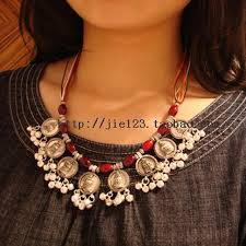 ethnic necklace aliexpress images Tibet nepal tujia ethnic jewelry wholesale silver necklace e 061 jpg