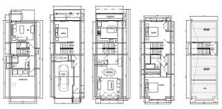 row house floor plans remarkable narrow row house plans images best idea home design