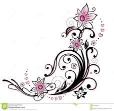 pink flower borders clip art 68