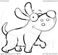 cartoon clipart of a black and white happy max dog character